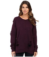 Joe's Jeans Bibiana Pullover Deep Orchid Women's Clothing Purple