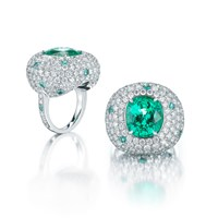 Paolo Costagli Cushion Shaped Paraiba Type Tourmaline Ring Green