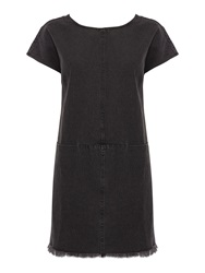 Label Lab Denim Shift Dress Charcoal