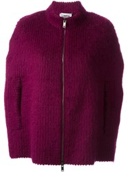 Sonia Rykiel Knit Zipped Caped Pink And Purple