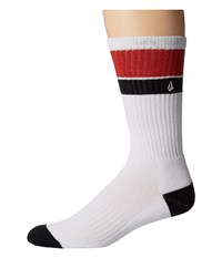 Volcom Quarta Sock White Men's Crew Cut Socks Shoes