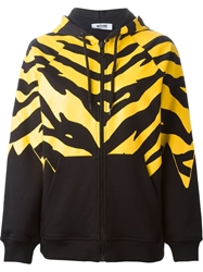 Moschino Cheap And Chic Tiger Stripe Print Hoodie Black