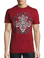 Affliction Royal Lord Graphic Tee Dirty Red
