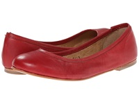 Type Z Carina Red Leather Women's Flat Shoes