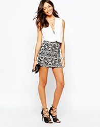 New Look Aztec Printed Mini Skirt Blackpattern