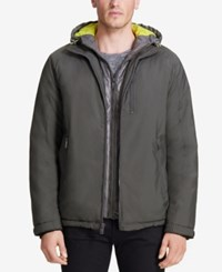 Vry Wrm Men's Turbo Hooded Puffer Bib Coat Octane Grey