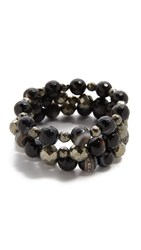 Hipchik Couture Sloan Bracelet Set Black Multi