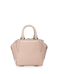 Alexander Wang Emile Mini Structured Leather Satchel Bag Petal