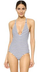 Rachel Pally Marcos Swimsuit Navy Stripe