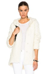 Atm Anthony Thomas Melillo Cozy Cardigan Sweater In White