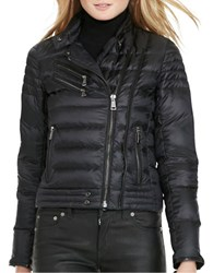 Polo Ralph Lauren Down Quilted Moto Jacket Black