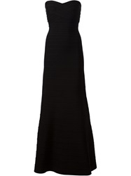 Herve Leger Strapless Bandage Dress Black