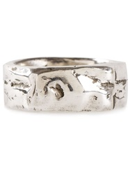Henson Textured Band Ring Metallic