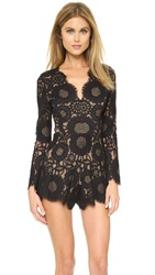 Alexis Ramzes Scalloped Romper Black Lace