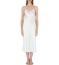 Nk Imode Silk V Neck Gown Ivory Ivory Lace
