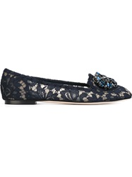 Dolce And Gabbana 'Vally' Slippers Blue