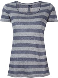 Woolrich Striped T Shirt Blue