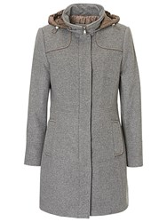 Betty Barclay Sporty Coat Grey Taupe