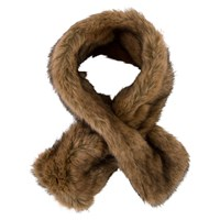 Chesca Double Sided Faux Fur Collar Brown