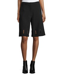 Opening Ceremony Rory Grommet Detail Long Shorts Black