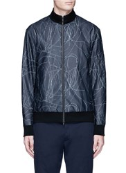 Theory 'Ronin' Abstract Print Bomber Jacket Multi Colour