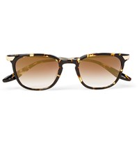 Barton Perreira Dean Square Frame Tortoiseshell Acetate And Metal Mirrored Sunglasses Tortoiseshell