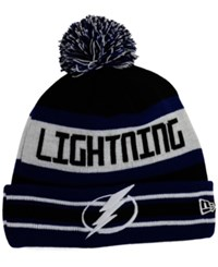 New Era Tampa Bay Lightning Jake Pom Knit Hat Black Navy