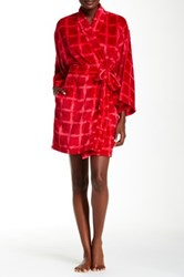 Josie Plaid Plush Robe Red