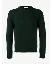 Moncler Lambswool Sweater Forest Green Black White