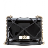 Roger Vivier Prismick Mini Patent Leather Shoulder Bag Nero