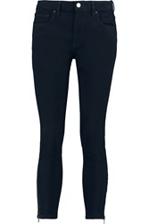 Victoria Beckham Cropped Mid Rise Skinny Jeans Black