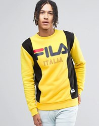 Fila Vintage Black Retro Sweatshirt Yellow
