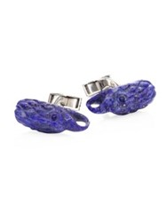 John Hardy Legends Lapis Lazuli And Sterling Silver Cuff Links Purple
