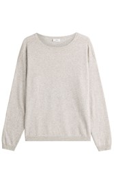Closed Pullover With Wool And Cashmere Grey