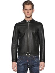 Dsquared Nappa Leather Moto Jacket