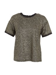 Lavand Stone Printed Top Gold