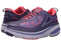 Hoka One One Bondi 4 Mulberry Purple Neon Pink Women's Running Shoes
