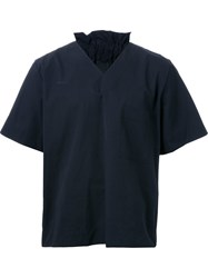 Craig Green V Neck Shortsleeved Shirt Black