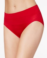 Warner's No Pinches No Problems Striped High Cut Brief Rt5501p Crimson Red