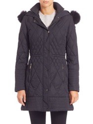 Rainforest Quilted Fur Trimmed Coat Black