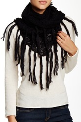 Lava Solid Crochet Scarf Black