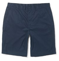 Michael Kors Polka Dot Cotton Shorts Blue