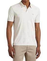 John Varvatos Short Sleeve Peace Polo White