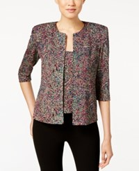 Alex Evenings Glitter Paisley Print Top And Jacket Multi