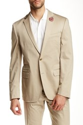 14Th And Union Two Button Cotton Stretch Sportcoat Beige