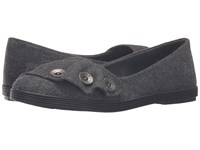 Blowfish Garamel Grey Two Tone Flannel Women's Slip On Shoes Gray