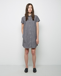 Steven Alan Chambray Shirtdress Black Chambray