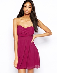 Tfnc Prom Dress In Pleated Chiffon Berry