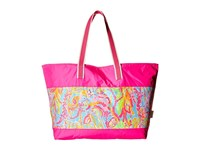 Lilly Pulitzer Sail Away Beach Tote Shorely Blue Scuba To Cuba Tote Handbags Multi