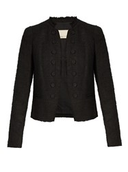 Rebecca Taylor Boucle Tweed Jacket Black